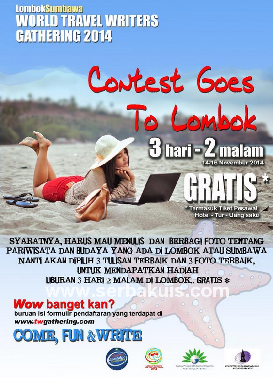 Kontes Foto dan Blog Hadiah ke Lombok Sumbawa Travel Writers Gathering 2014