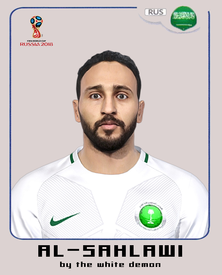 PES 2018 Mohammad al-Sahlawi Face By The White Demon (world cup 2018 facepack)