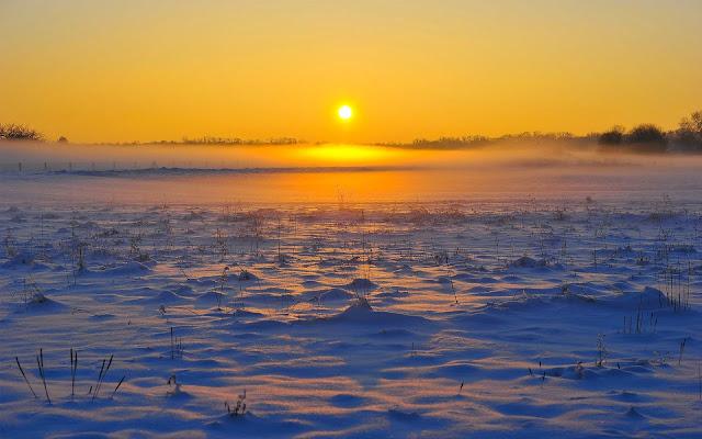 Papel de Parede Amanhecer na Neve morning sunrise desktop hd wallpaper