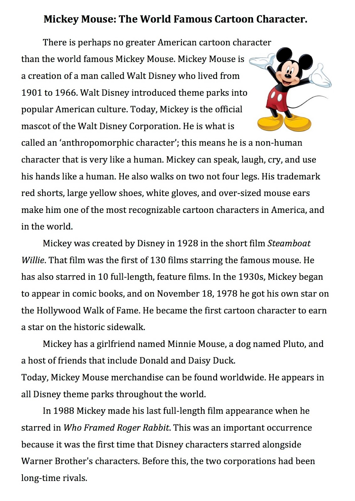 First Year English Reading 4 Mickey Mouse