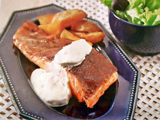 Gambar Resep Salmon Steak Dengan Saus Jamur