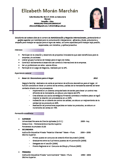 Ejemplo De Curriculum Vitae Mixto Sample Resume Service