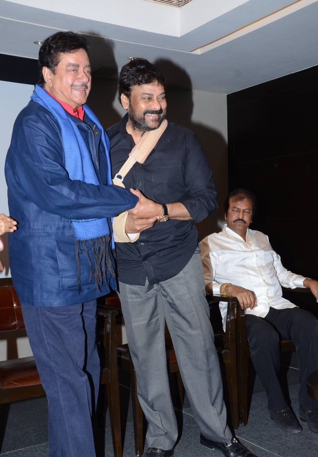 Chiranjeevi and Shatrugan Sinha at the book Launch. When Legends Meet, Social Media goes Berserk. Chiranjeevi and Mohan Lal.