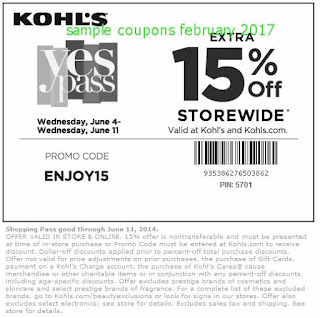 Kohls coupons for february 2017