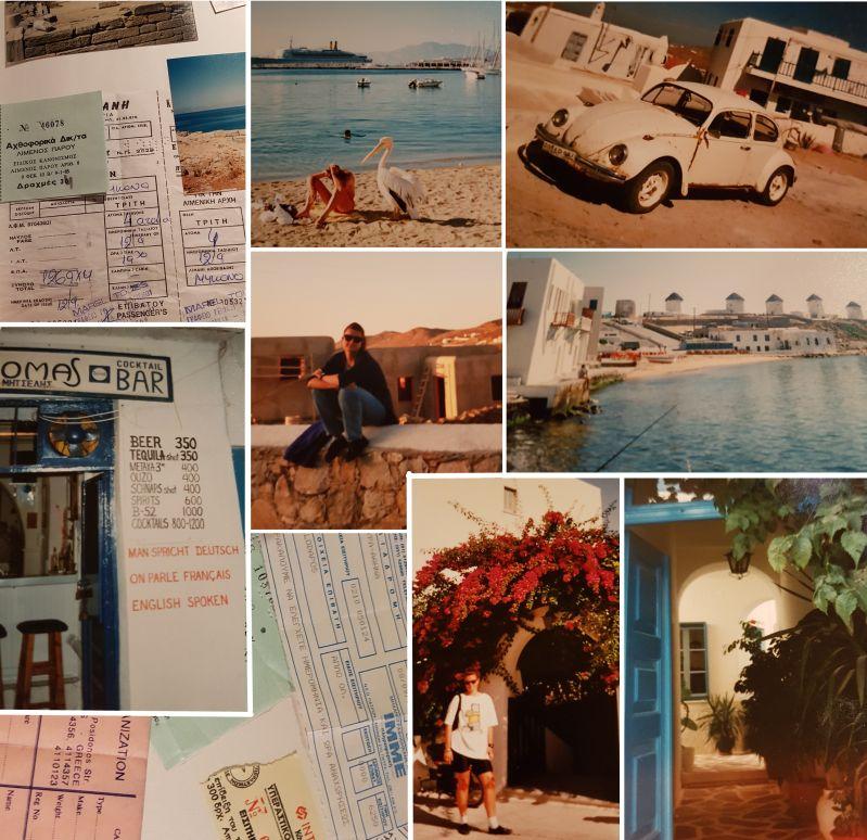 Schnappschüsse Insel Mykonos Sommer 1993