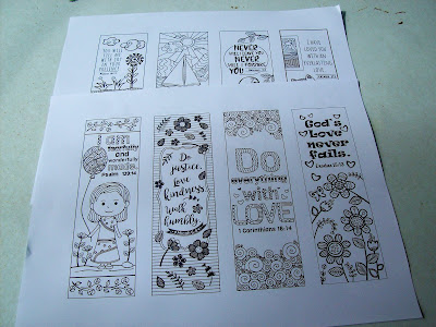 Coloring bible verse bookmarks for kids
