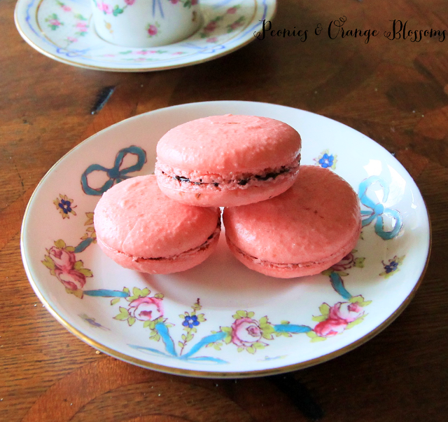 Chocolate Cherry Macarons