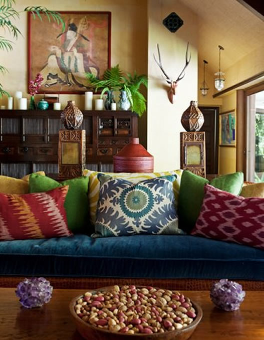 Moon to moon luxury bohemian interiors martyn lawrence for Asia style wohnen