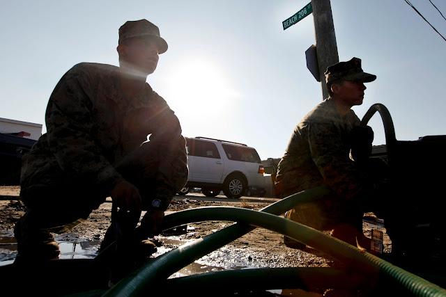 Sandy - US Marines Pumping Flood Water