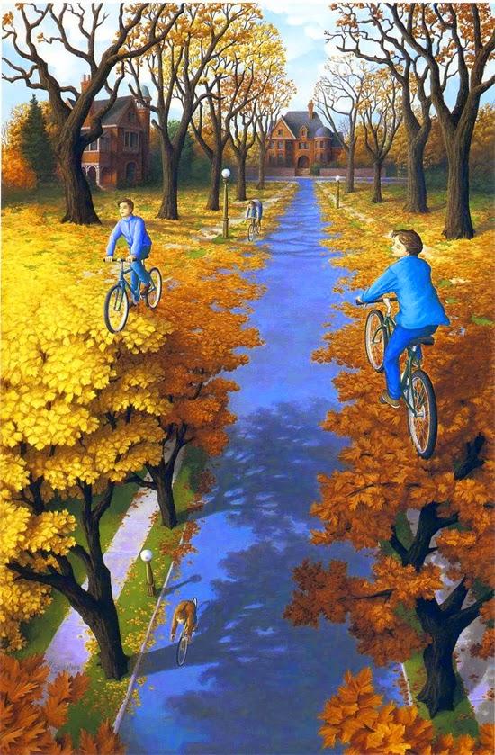 Ilusão de ótica - Bicicletas