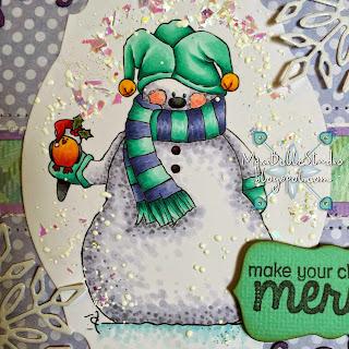 Squgglefly Snowman Bird