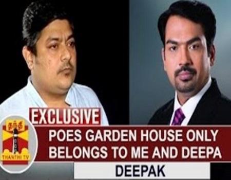 EXCLUSIVE   Poes Garden House only belongs to me and Deepa – Jayalalithaa's Nephew Deepak