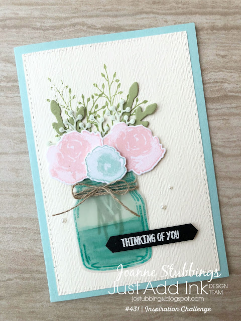 Jo's Stamping Spot - Just Add Ink Challenge #430 using First Frost and Jar of Love by Stampin' Up!
