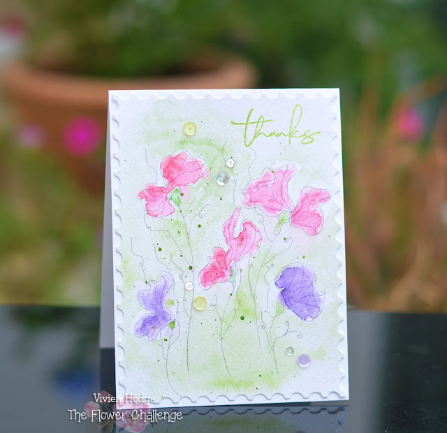 Sweet peas, Watercolour, Flower Challenge