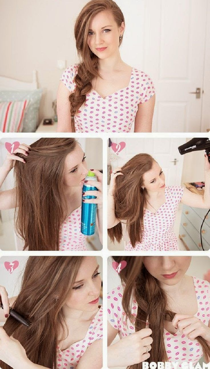Romantic Hair Style Tutorials for your First Date