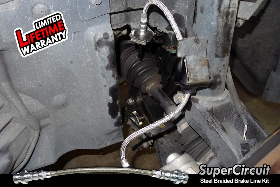 SUPERCIRCUIT Steel Braided Brake Lines: Mazda 3 MPS Steel Braided
