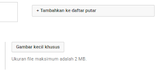 Upload gambar thumbnail ke youtube