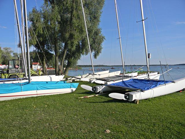 jezioro, sport, woda, przystań