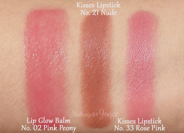 Burberry Lip Glow Balm in No.02 Pink Peony Swatches