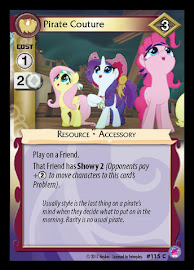 My Little Pony Pirate Couture Seaquestria and Beyond CCG Card