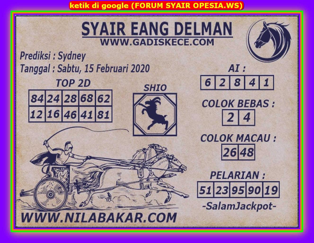 Kode syair Sydney Sabtu 15 Februari 2020 54