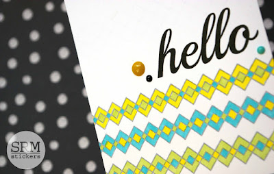 SRM Stickers Blog - A Masculine Hello by Lorena - #card #masculine #clearstamps, #hello #BIGhello #birthday #BIGbirthdfay #stampedstitches #clearstamps