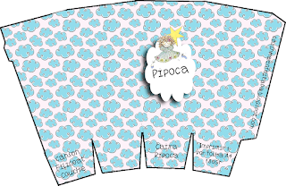 Pyjama Party  Free Printable Pop Corn Box.