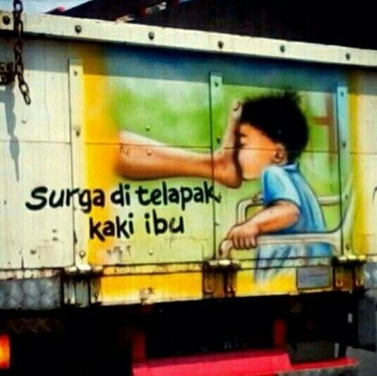 kumpulan tulisan di belakang truk