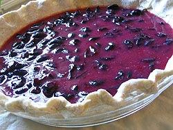 Concord grape pie filling