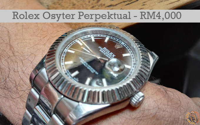 Rolex Osyter Perpetual Datejust II - Harga Sebenar RM32K Mahu Dijual RM4K