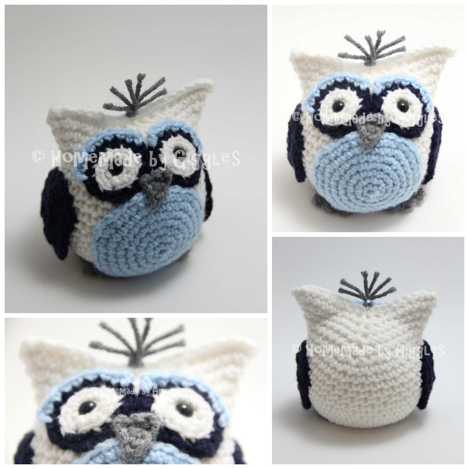 Homemade by Giggles: Bean Bag Owl - FREE Crochet Pattern!