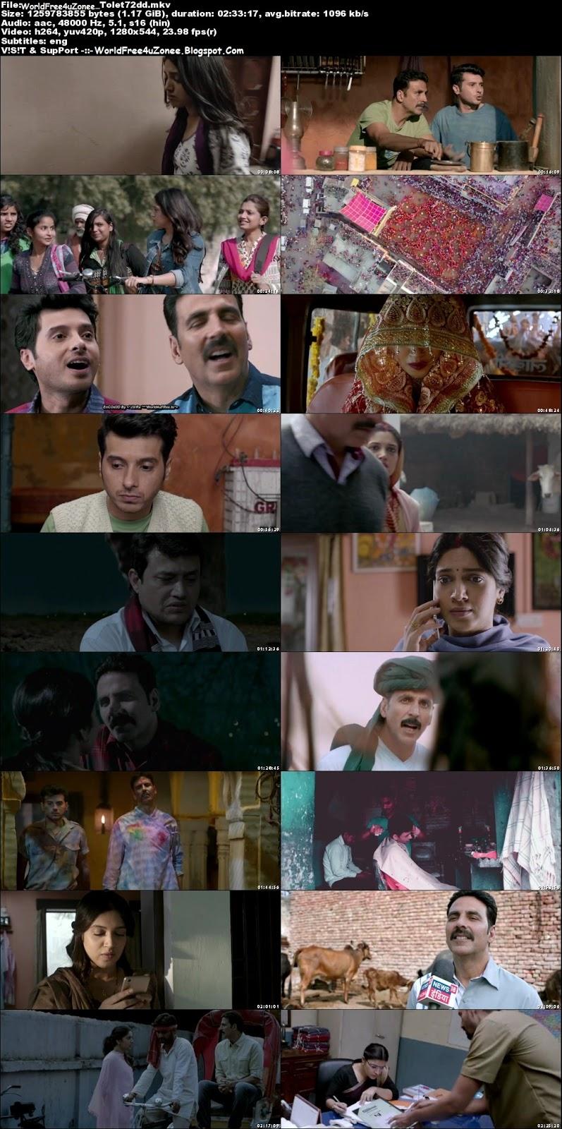 Toilet Ek Prem Katha (2017) Hindi DVDRip 720p 1.2GB Full Movie Free Download And Watch Online Latest Bollywood Hindi Movies 2017 Free At WorldFree4uZonee.Blogspot.Com