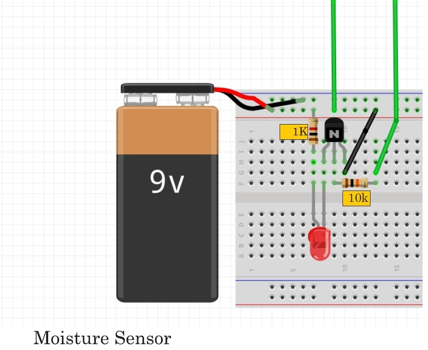 Basics Of Electronic Circuits and Projects : Moisture Sensor Using ...