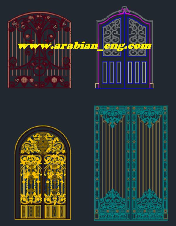 مجموعة بلوكات اوتوكاد لتفاصيل الواجهات رائعة جدا DWG