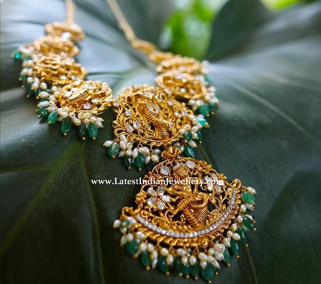 Dasavataram Necklace with Guttapusalu