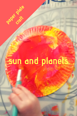 Easy Paper Plate Sun and Planets Craft for Toddlers and Preschool