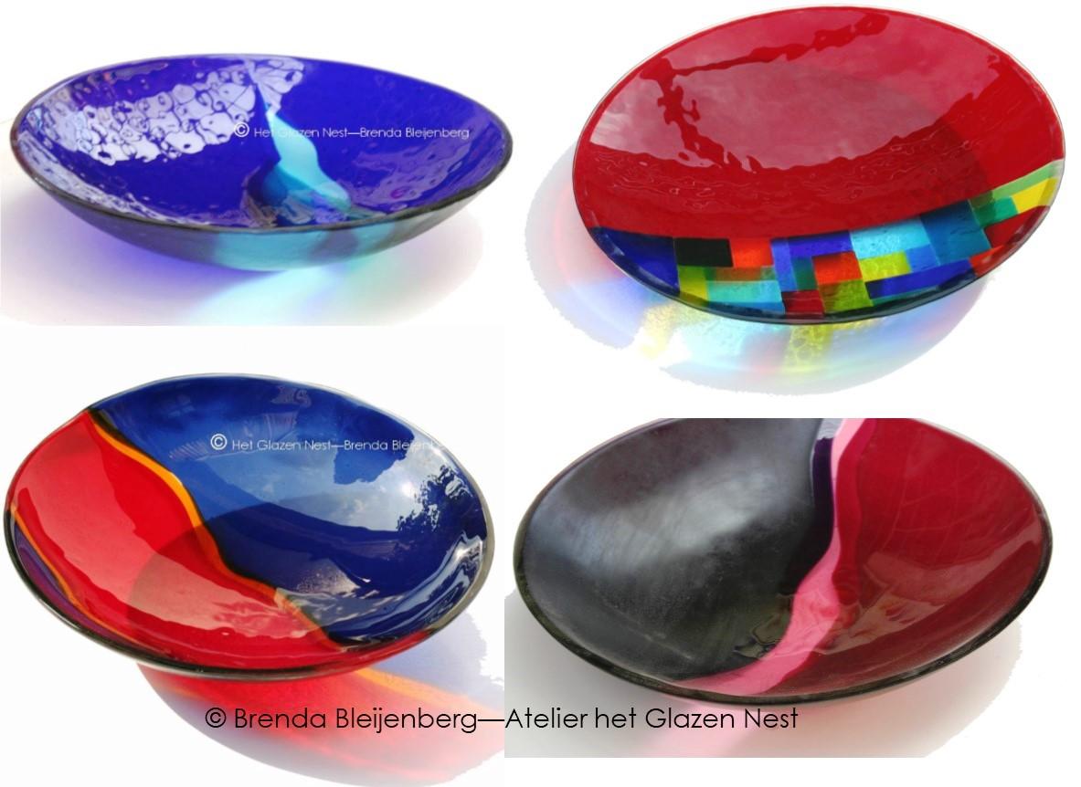 Glazen Rond Object.Objecten In Kleur En Vorm Fusing Glas Brenda Bleijenberg
