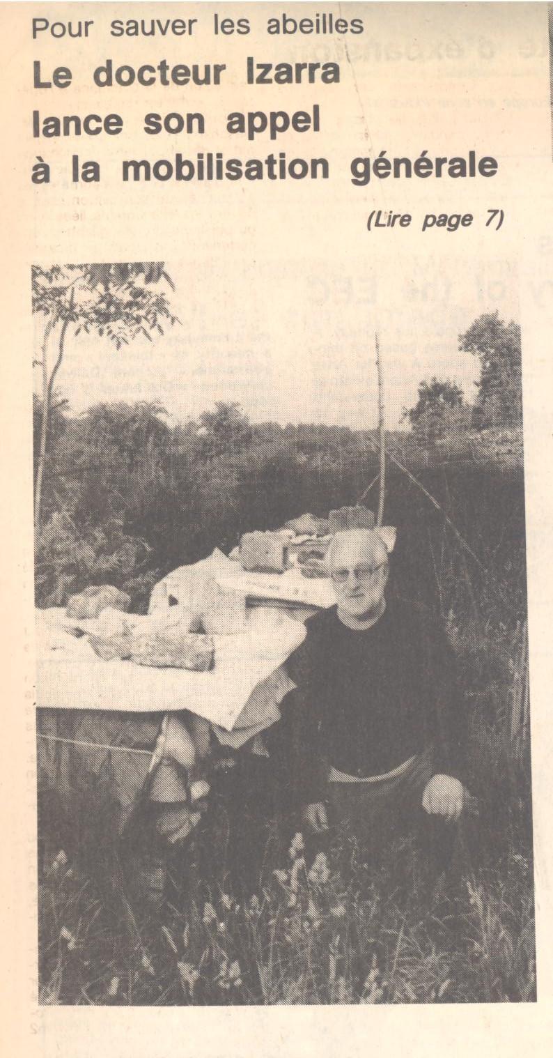 histoire du docteur g rhard diego de izarra 122 pour sauver les abeilles ouest france 25. Black Bedroom Furniture Sets. Home Design Ideas