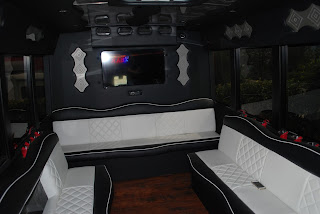 Interior of a Thousand Oaks party bus