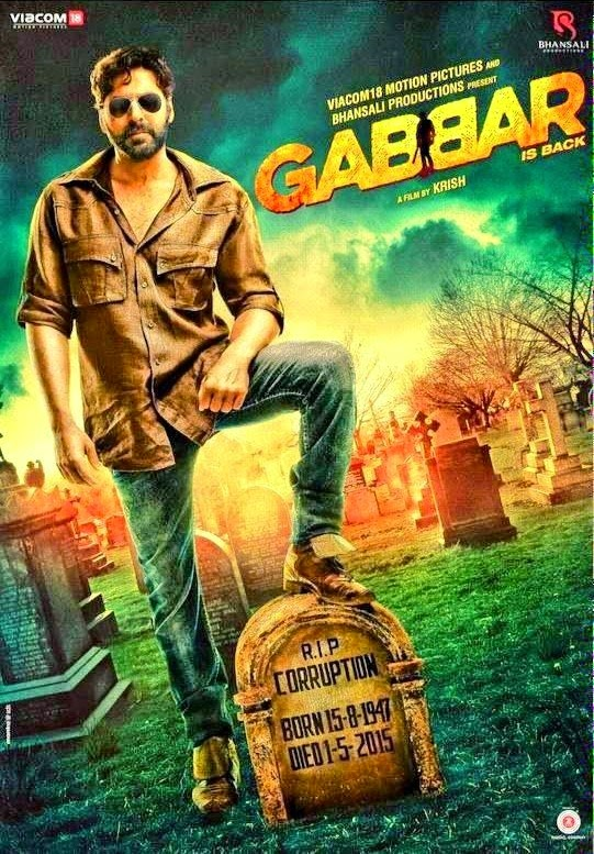 Gabbar is Back, Directed by Krish, Movie Poster, starring Akshay Kumar, Shruti Hassan