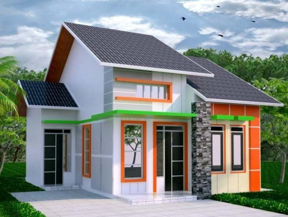 contoh rumah idaman di desa  3