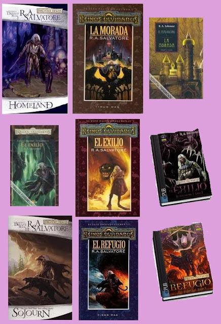 portadas de El elfo oscuro