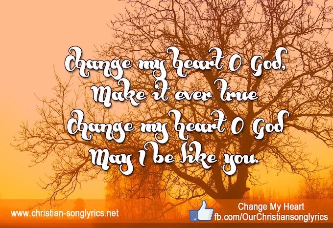 Change my heart - Lyrics
