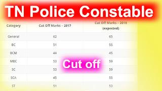 PC Cutoff marks 2017,Tamilnadu Police Constable Exam Cutoff Marks Result 2017,Tamilnadu Police Constable exam Expected Cut off Marks 2017,TN PC RESULT,TN Police Cutoff marks 2017,www.tnusrb.tn.gov.in