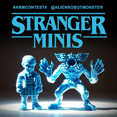 "Stranger Things ""Stranger Minis"" Light Blue Edition Keshi Rubber Mini Figure Set by Alien Robot Monster"