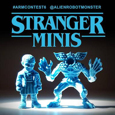 """Stranger Things """"Stranger Minis"""" Light Blue Edition Keshi Rubber Mini Figure Set by Alien Robot Monster"""
