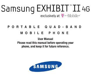 Samsung Exhibit II 4G Manual