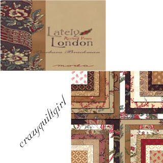 Moda LATELY ARRIVED FROM LONDON Quilt Fabric by Barbara Brackman