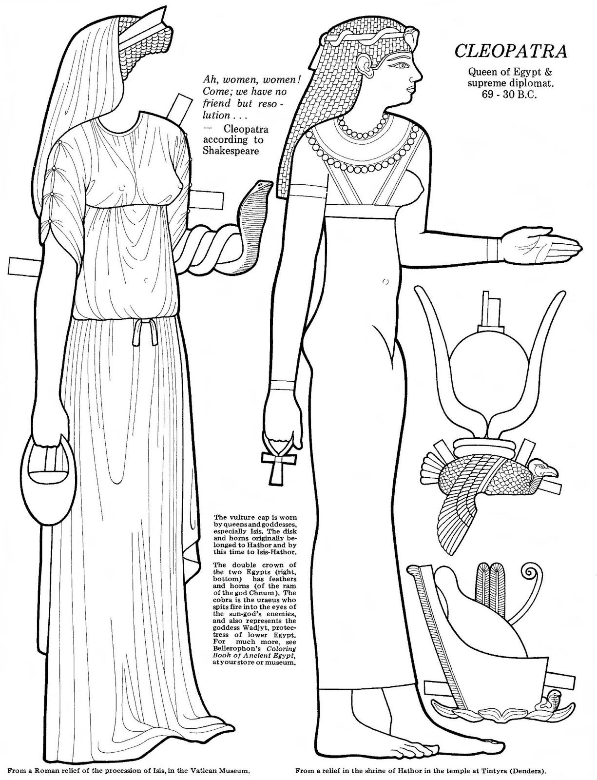 Mostly Paper Dolls Too Cleopatra The Paper Doll