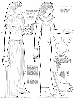 Mostly Paper Dolls Too!: CLEOPATRA the Paper Doll